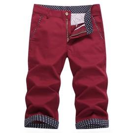 Hommes De Pantacourt Coton Slim Court Pantalon Hommes V�tements Etoiles Motif