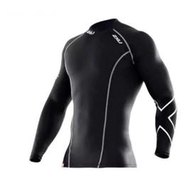 Hommes Collants T - Shirt Homme Compression Shirt Noir Uv Antitache � Manches Longues Taille S - Xxl Air De Petits Colis Livraison Gratuite