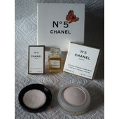 Coffret Papillon Collection Chanel *N�5* Miniature 5ml + Poudre Press�e Apr�s Bain 4g Sous Bo�tes