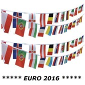 Guirlande Banderole Euro 2016 7 M�tres (24 Pays Fanions 15 X 20 Cm) France Belgique Espagne Allemagne Angleterre Italie Portugal Croatie Turquie