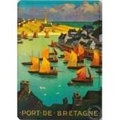 Plaque Port De Bretagne - 15 X 21 Cm