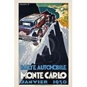 Plaque Rallye Automobile Monte Carlo