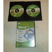 Lot De 3 C.D Formation Multim�dia Interactive Word + Windows Xp + Excel 2002