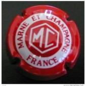 Capsule De Champagne Marne Et Champagne Rouge Et Blanche