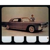 Plaquette Metal -Lincoln Continental- N�47 - Collection L'auto � Travers Les Ages - 6cm * 8cm
