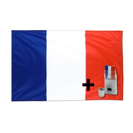 Lot Drapeau France/Francais + Maquillage - Pack Supporter Euro 2016