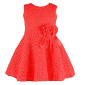 Robe - Col Rond - Manches Courtes - Fille
