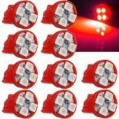 10x 4 Led 3528 Smd W5w T10 194 447 464 Ampoule Voiture Lampe Lumi�re Veilleuse Lecture Rouge