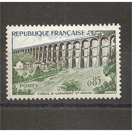 Timbre France Neuf 1240 (1960) Viaduc de Chaumont