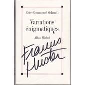 Double Autographe Huster Delon Sur Livre D'e.E. Schmitt