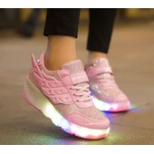 Enfant Heelys Jazzy Junior Filles Gar�ons Led Lumi�re Chaussures