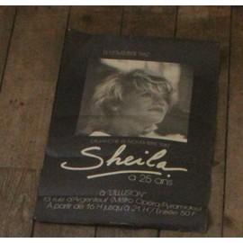 rare affichette originale 19x43cm apm SHEILA le 15 novembre 1987 à l'ILLUSION à PARIS / SHEILA à 25 ans