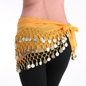 Ceinture Echarpe Foulard Dance Orientale Danse Ventre Hip Scarf Sequins Belly