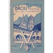 Brou Merveille De L'art Flamboyant Guide Touristique Azur Tome Viii de aLFRED bidet avec une po�sie patriotique de l'auteur