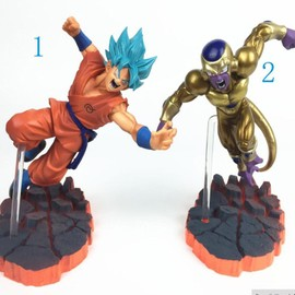 2 Pi�ces Dragon Ball Z Goku Son Freezer Ultime Forme Anime Pvc Figurines