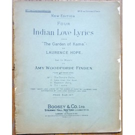 four indian love lyrics-from the garden of Kama by Laurence Hope
