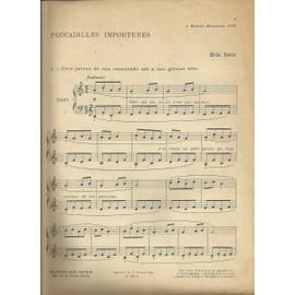 Satie- Peccadilles importunes- partition piano