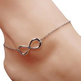 Huit En Forme De Main Debout Bracelet De Cheville Cha�ne De Pied Cha�ne De Cheville Des Bracelets De Cheville Bijoux De Couleur En Argent Pour Femmes
