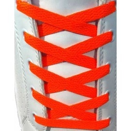 Lacets Chaussures De Sport Plats Et Larges 120 X 0.8 Cm- Orange Fonc�