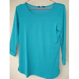 Pull Viscose Turquoise - Taille S