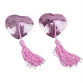 Accessoire Beaut� Sexy : Bijou De Seins , Cache T�tons Nipples Paillettes Rose