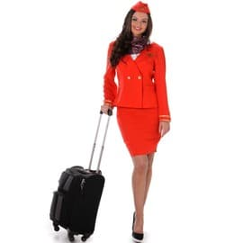 D�guisement H�tesse De L'air Rouge Femme - 147915 - Large - Port 0�