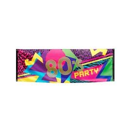 Banni�re En Tissu 80's Party 74 X 220 Cm - 153630 - Taille Unique - Port 0�