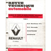 Bareme De Temps De Main D'oeuvre De La Rta Renault 8 Eme Edition Tome 2 / 21 / Safrane / Espace