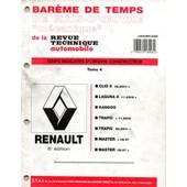 Bareme De Temps De Main D'oeuvre De La Rta Renault 8 Eme Edition Tome 4 / Kangoo / Trafic / Master