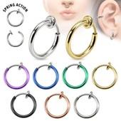 Faux Piercing Nez Anneau Septum Cartilage Oreille Fashion
