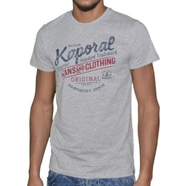 Kaporal - T-Shirt Manches Courtes - Homme - Feel - Gris Chin�