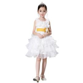 Vktech B�b� Fille Girl 2016 Robe De Princesse En Fleurs Satin Pour Soir�e C�r�monie Mariage