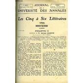 Journal De L'universite Des Annales 7e Annee Scolaire N�15 - Sommaire : Philippe Ii .M.Georgesclaretiela Rose De L'infante, De Victor Hugoles Contemporains. . Madame R�camier ... M. Edouard ...
