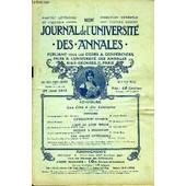 Journal De L'universite Des Annales Quatrieme Annee Scolaire N�18 - Histoirechateaubriand Et Mme R�camier. M.Henry Roujonlitt�rature Antiquedanses Grecques ..M.Bourgault-Ducoudrayl�Art Au ...