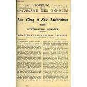 Journal De L'universite Des Annales Quatrieme Annee Scolaire N�4 - Sommaire : Litt�rature Antique D�m�t�r Et Les Myst�res D'eleusis, . M. Jean Richepin, Histoire Les Demi-Solde M. Georges ...