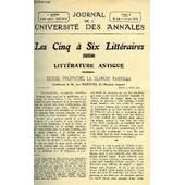 Journal De L'universite Des Annales Quatrieme Annee Scolaire N�14 - Sommaire : Litt�rature Antique : Ulysse, Polyph�me, La Blanche Nausicaa, Conf�rence De Jean Richepin, Histoire : Mme De ...