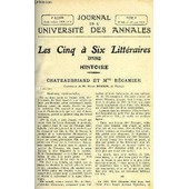 Journal De L'universite Des Annales Quatrieme Annee Scolaire N�18 - Sommaire : Histoirechateaubriand Et Mme R�camier. M.Henry Roujonlitt�rature Antiquedanses Grecques ...