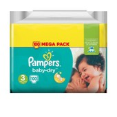Pampers Baby-Dry Taille 3 5-9 Kg X100 Couches