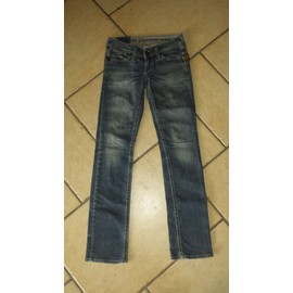 Jean G-Star Coton 16 Ans Bleu Fille Taille Basse Taille 34