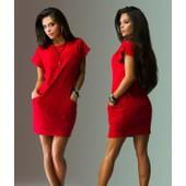 2016 Femmes D'�t� Robes Sexy D'o-Cou Noir Et Rouge Robe Casual Chauve-Souris � Manches Courtes Poches Mini Robe Chemise Nouveau Mode