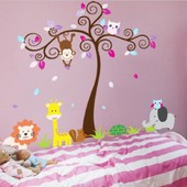 Amovible Accueil D�cor Art Stickers Fen�tre Affiche 60 * 90cm Animal & Arbre Pvc Diy Vinyle Mural Autocollant