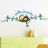 Amovible Accueil D�cor Art Stickers Fen�tre Affiche 25 * 70cm Monkey Forest Pvc Diy Vinyl Mural Autocollant