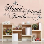 Amovible Accueil D�cor Art Stickers Fen�tre Affiche 56 * 107cm Like Family Pvc Diy Vinyl Mural Autocollant