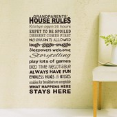 Amovible Accueil D�cor Art Stickers Fen�tre Affiche 42 * 88cm House Rules Pvc Diy Vinyl Mural Autocollant