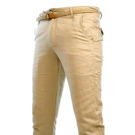 Pantalon Lin + Ceinture Homme Men Neuf Toute Taille Kosmo Cipo Dg New Hose