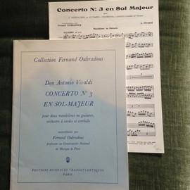 Vivaldi Concerto pour deux guitares n°3 en sol majeur - Fernand Oubradous