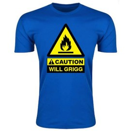 Caution Will Griggs On Fire T-Shirt (Royal) - Kids