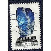 France 2016 Oblit�r� Used Le Monde Min�ral Labradorite