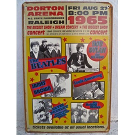affiche de concert Beatles bob dylan james brown louis amstrong elvis presley the rolling stones