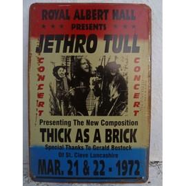 affiche de concert metal JETHRO TULL